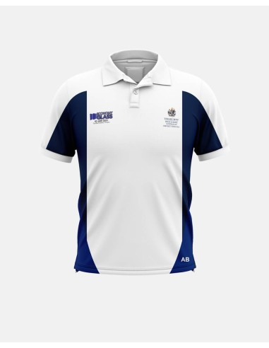 030 - Cut and Sew Cricket Polo Shirt -