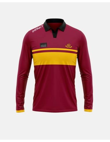 020 - Long Sleeve Sublimated Cricket Polo Shirt - Impakt