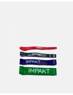 022 - Latex Rubber Strength Bands Pack - Impakt - Fitness